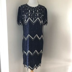 Lawrence Kazar Vintage Beaded Sequins Dress